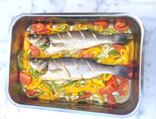 Spigola al forno, zeebaars uit de oven
