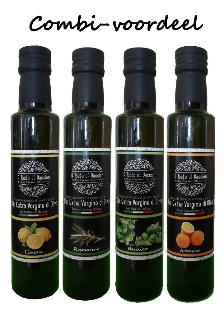 olijfolie citroen rozemarijn basilicum sinaasappel