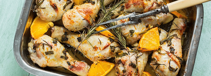 recept kip met sinaasappel
